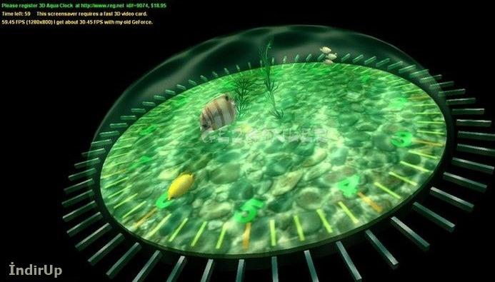 3D Aqua Clock