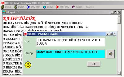 Turing Türkçe ve İngilizce Çeviri
