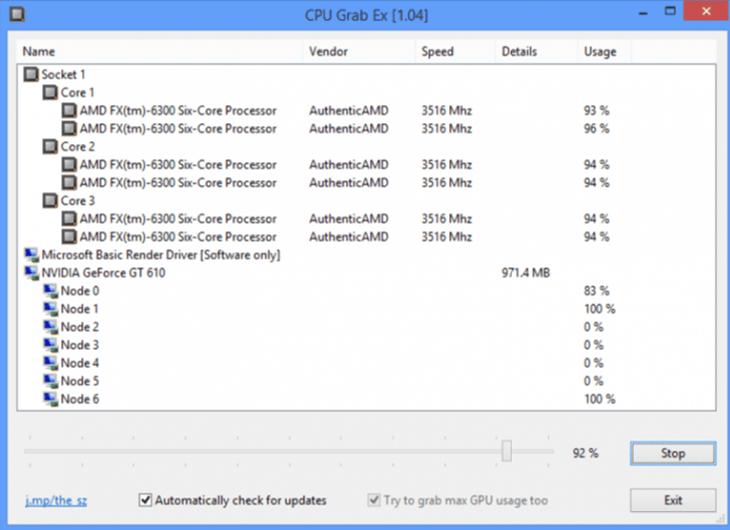 CPU Grab Ex